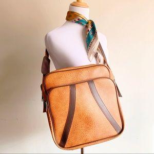 Retro Shoulder Bag Carryon Bag Faux Leather